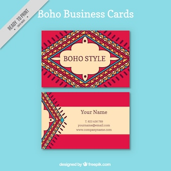 Carte aziendali in stile boho
