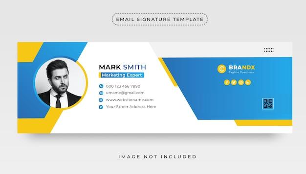 Corporate clean email signature template design