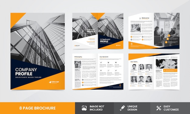 Corporate company brochure template