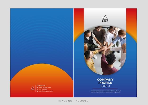 Корпоративный профиль компании синий оранжевый обложка