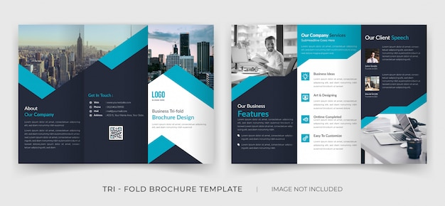 Corporate company purpose tri fold brochure template