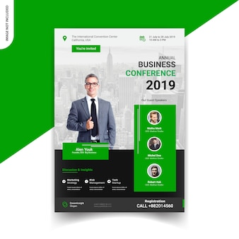 Corporate conference flyer template design