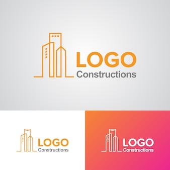 企業の建設会社のロゴデザインテンプレート