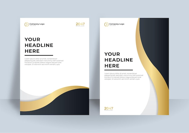 Corporate cover design or brochure template background for business design. modern business flier layout template in a4 size. cover design annual report with abstract geometric element