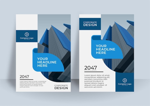 Corporate cover design or brochure template background for business design. modern business flier layout template in a4 size.