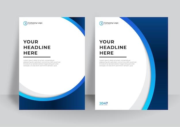 비즈니스 디자인을 위한 기업 표지 디자인 또는 브로셔 템플릿 배경. a4 크기의 현대적인 비즈니스 전단지 레이아웃 템플릿입니다. 추상적 인 기하학적 요소와 표지 디자인 연례 보고서