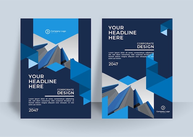 ビジネス デザインのコーポレート カバー デザインまたはパンフレット テンプレートの背景。 a4 サイズのモダンなビジネス フライヤー レイアウト テンプレート。