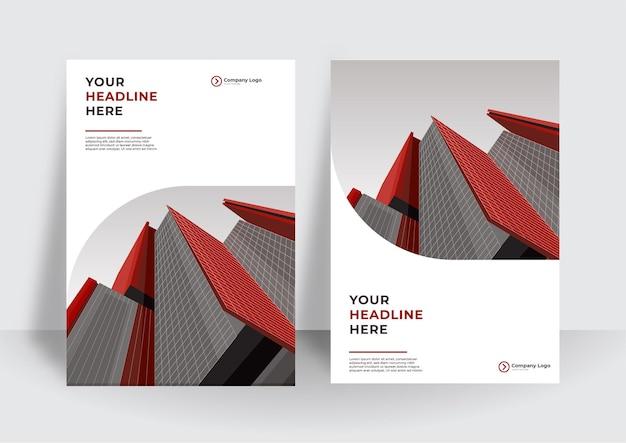 비즈니스 디자인을 위한 기업 표지 디자인 또는 전단지 템플릿 배경. a4 크기의 현대적인 회사 프로필 템플릿