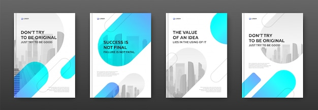 Фирменный шаблон дизайна обложки для бизнеса