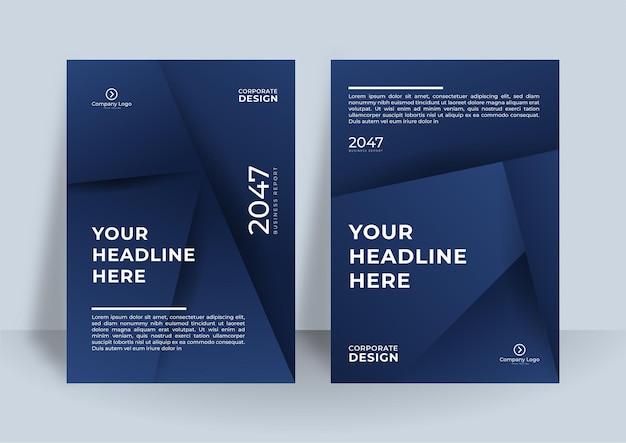 기업 표지 디자인 템플릿입니다. 현대 기하학적 포스터 디자인.