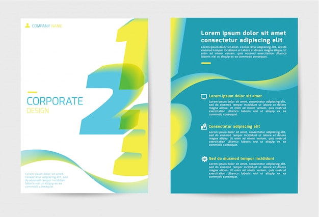 Corporate cover template design
