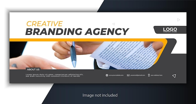 Corporate cover or web banner template Premium Vector