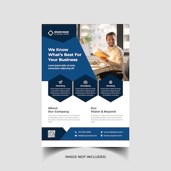 Corporate creative business flyer template