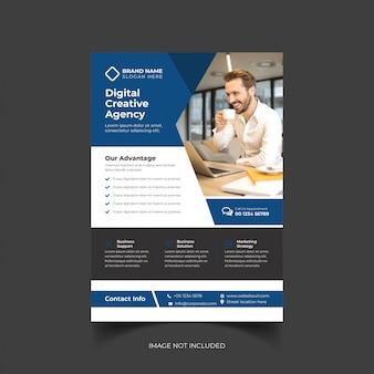 Corporate creative business flyer template