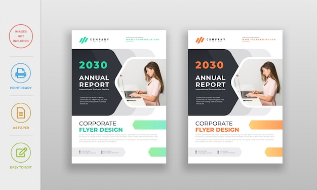 Corporate creative company business flyer design template