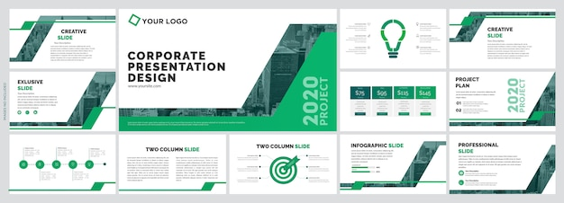Corporate creative slides template