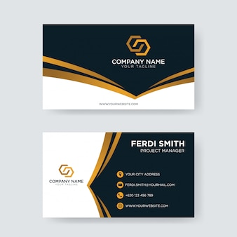 Corporate dark gold business card
