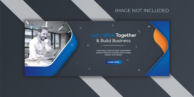 Corporate and digital business marketing promotion facebook cover template Premium Vector