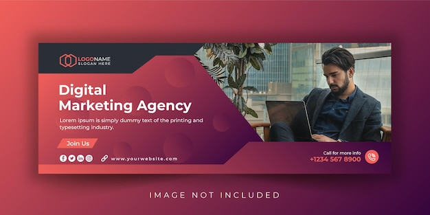 Corporate and digital marketing agency web banner template