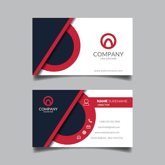 Corporate elegant red business card template