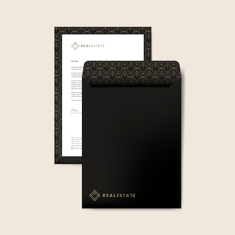 Corporate envelope design template