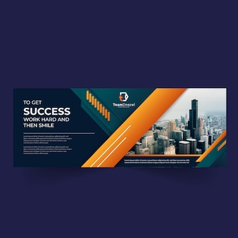 Corporate facebook cover social media banner template