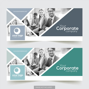 Corporate facebook cover with photo element design
