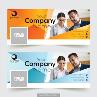 Corporate facebook timeline cover template