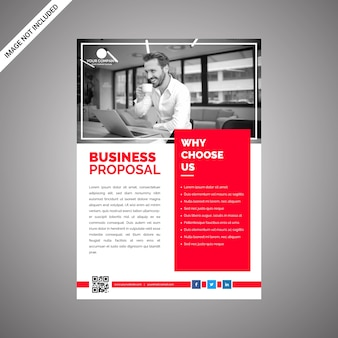 Corporate flat red business proposal