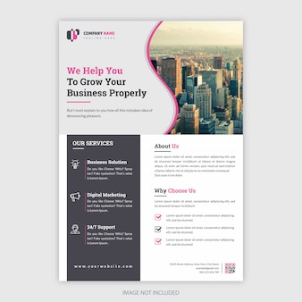 Corporate flyer for business purpose
