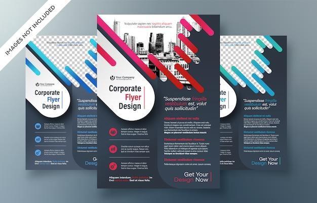 Corporate flyer design template