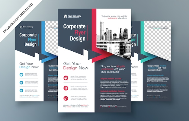 기업 전단지 디자인 서식 파일