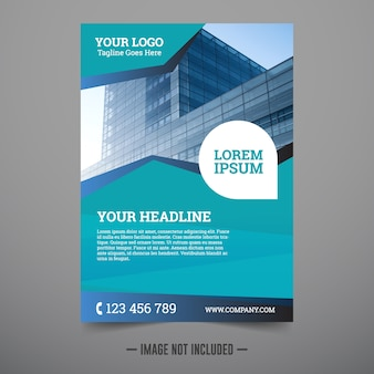 Corporate flyer design template