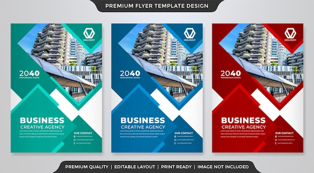 Corporate flyer design with abstract style use for business poster