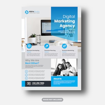 Corporate flyer premium template