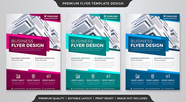 Corporate flyer template design with abstract layout use for business cover