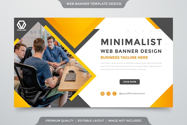 Corporate flyer template with abstract style