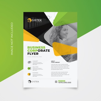Corporate flyer with orange accent