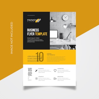 Corporate flyer with yellow accent