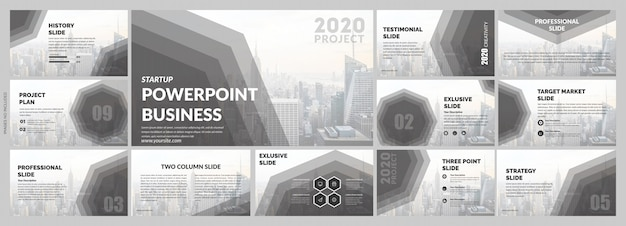 Corporate grey slides template