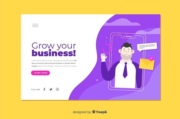 Corporate grow your business landing page