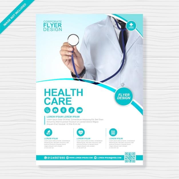 기업 건강 관리 및 의료 커버 a4 전단지 디자인 서식 파일