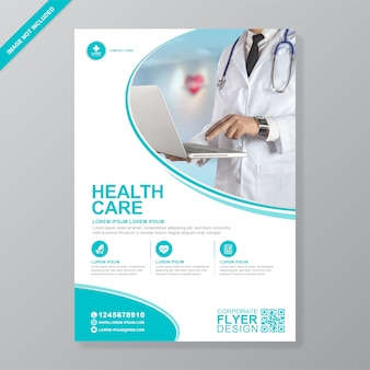 Corporate healthcare and medical cover a4 flyer  template
