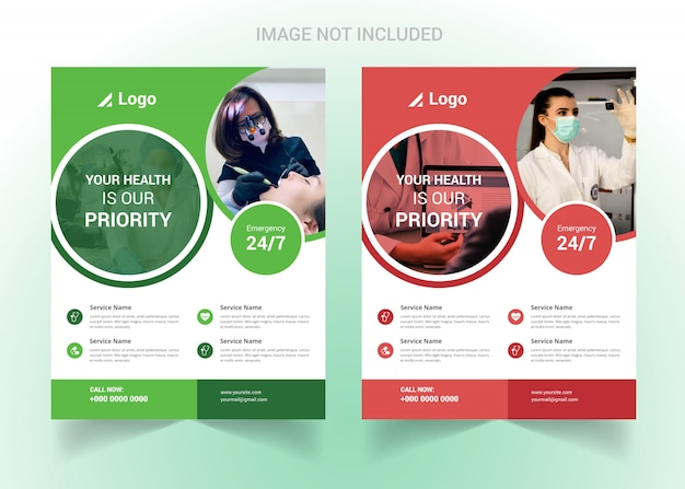 Corporate healthcare and medical flyer