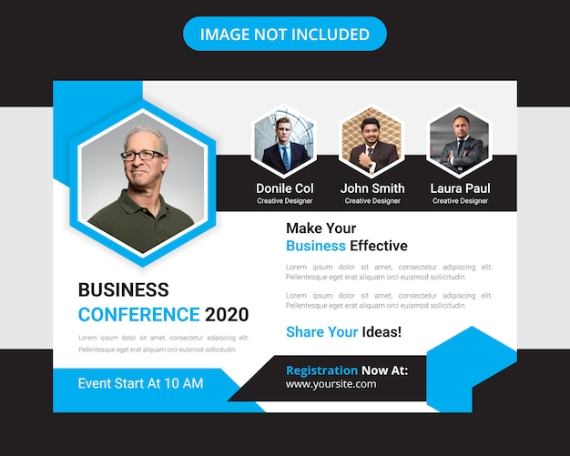 Corporate horizontal business conference flyer design
