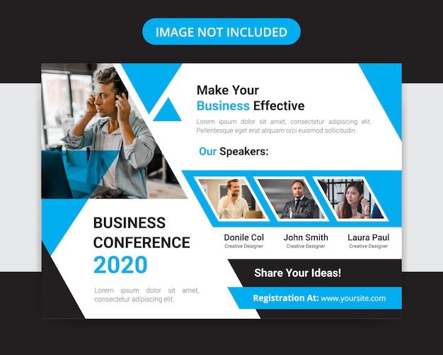 Корпоративный горизонтальный бизнес-дизайн флаера