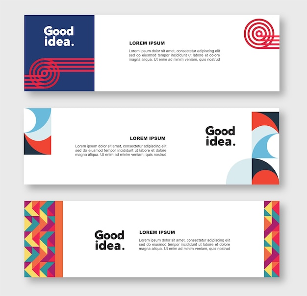 Corporate identity background and banner collection