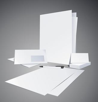 Corporate identity blank templates.   illustration
