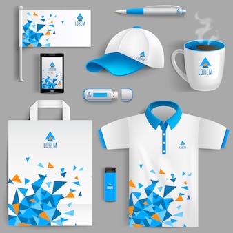 Corporate identity blue