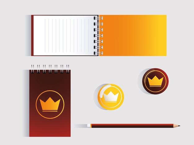 Corporate identity branding design over white background illustration